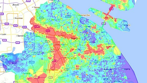 Field strength distribution map for GSM-R